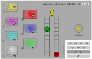 Farbmelodie-Spiel (Screenshot)