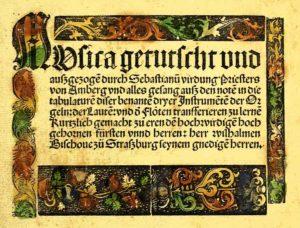 Musica getutscht, Titelblatt